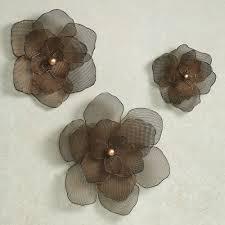 brown metal flower wall art
