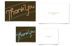 Thank You Note Card Template Word Publisher