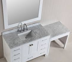 48 london single sink vanity set in white finish with one make up makeup area plan 11