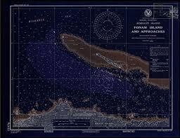 Us Navy Nautical Charts Vintography Noaa Blueprint Style 18 X 24 Nautical Chart