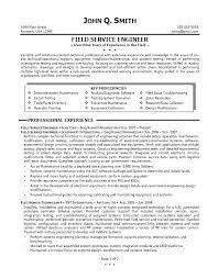 Resume Cover Letter For Field Cute Field Service Technician Resume
