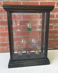 shot glass display case premium 3 shelved