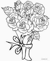rose colouring pages 12