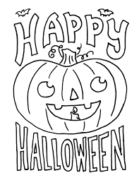 Happy Halloween Coloring Pages Kids Free Hallowen Coloring Pages