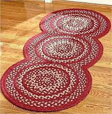 barn red braided rug new primitive country triple circle jute area floor mat round rugs for