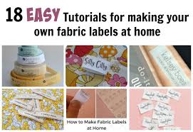 Diy Clothing Label 18 Easy Tutorials For Making Your Own Fabric Labels Diy