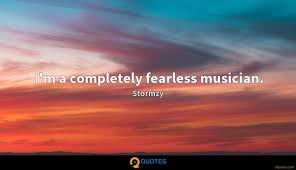 Im A Completely Fearless Musician Stormzy Quotes 9quotescom