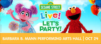 Barbara B Mann Interactive Seating Chart Sesame Street Live Lets Party Barbara B Mann