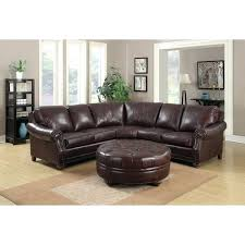 leather sectional couch troy chestnut brown leather sectional sofa and ottoman modern leather sectional couch for