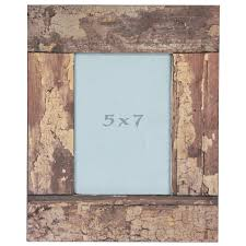 modern 5x7 picture frames with wooden list for chic home decor