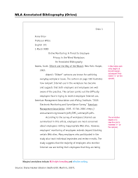 Best Photos Of Annotated Bibliography Mla Format Mla Annotated