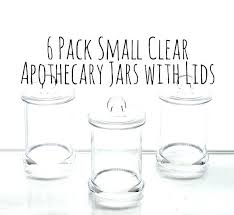 glass jars for candy buffet plastic apothecary 6 pack of x 2 mini clear large containers glass jars for candy buffet