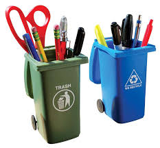 cool handy office supplies. Mini Curbside Trash And Recycle Can Set Cool Handy Office Supplies B
