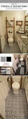 Diy Bathroom Floors How To Stencil A Tile Pattern On A Bathroom Floor A Stencil Stories