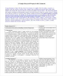 10+ Research Proposal Examples & Samples - Pdf
