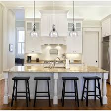 charming kitchen island lighting industrial decor and 4 black seats with pillar table