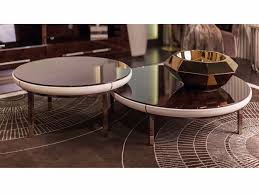 low round marble bistro side table noir low coffee table by turri