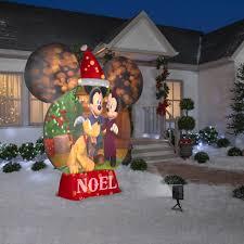 Mickey Shaped Christmas Lights Mickey Mouse Snow Globe Gemmy