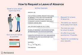 Letter For Absence Formal Leave Of Absence Letter Request Example