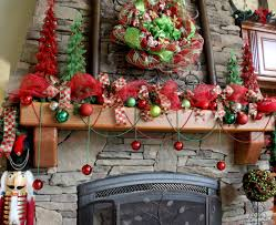Amazing christmas fireplace mantel decoration ideas Garland Christmas Ball Ornament Ideas With Ribbon Christmas Trees For Mantel Decorations For Christmas And Stacked Stone Paulshi Fireplace Amazing Mantel Decorations For Christmas Greet Your