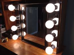 minimalist dressing room style with incandescent bulb makeup vanity mirror lights frosted glass shades ideas