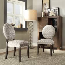 INSPIRE Q Paulina Grey Chevron Round Back Dining Chair (Set of 2) by  INSPIRE Q