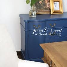 paint without sanding for furniture