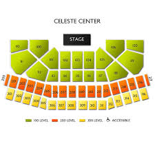 Celeste Center 2019 Seating Chart