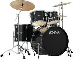 tama imperialstar complete drum set 5 piece 22 kick hairline black