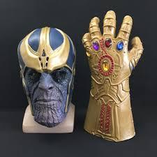 <b>Thanos</b> Mask <b>Infinity Gauntlet Avengers Infinity War</b> Gloves Helmet ...