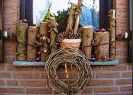 Herbst Deko Mit Holz Für Die Fensterbank Deko Weihnachten