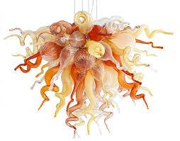 viz glass desert rose small art glass chandelier