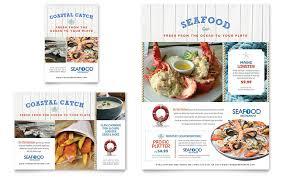 Microsoft Word Restaurant Menu Template Impressive Seafood Restaurant Flyer Ad Template Word Publisher