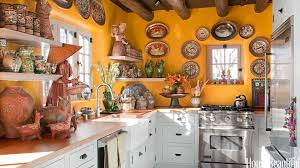 Southwestern Style Kitchen Designs Yellow Kitchen With Santa Fe Style Southwest Kitchen Decor
