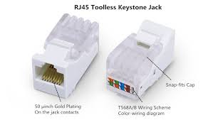 achieve simple connection toolless keystone jack optical cables rj45 toolless keystone jack