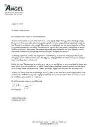 6 Formal Letter Of Recommendation Format