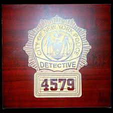 custom wood engraved plaque memorating police service