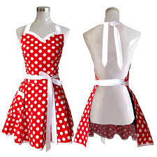 kitchen apron. amazoncom lovely sweetheart red retro kitchen aprons woman girl cotton polka dot cooking salon pinafore vintage apron dress christmas u0026 dining f