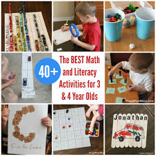 the best math and literacy activities for preers 3 4 year olds