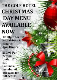 christmas dinner poster christmas day 2018 poster golf hotel silloth