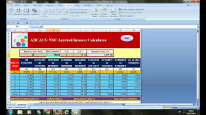 Excel Auto Nsc Interest Calculator Viii Issue