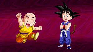 Kid Goku And Krillin Wallpaper