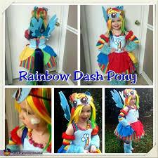 my little pony rainbow dash costume diy