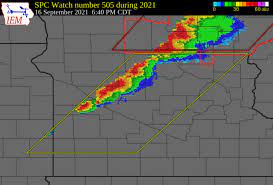 Tornado and severe thunderstorm watches ...