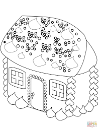 Gingerbread House Coloring Page Free Printable Coloring Pages New