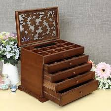images gallery 5 drawers large jewellery box wooden
