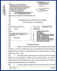 Superior Court Lawsuit Filing: Michael Jackson's Mjj Productions ...