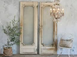 recycling old wooden doors frames vintage indoor wall decoration metal chair pillow