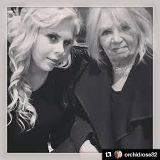 Tatjana Rhodes with grandmother, Sylvia Bates, 2018 | Nick rhodes, Nick,  Robert plant