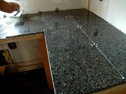 Granite Kitchen Counter Top How To Install A Granite Tile Kitchen Countertop How Tos Diy